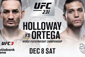 UFC 231 Toronto! 2x Tickets Section 309 row 13 seats 13/14
