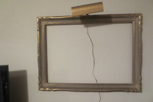 NEW PRICE  ANTIQUE PICTURE FRAME WITH ATTACHED ACCENT LIGHT Kitchener / Waterloo Kitchener Area image 1