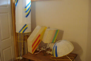 Vintage 1980's  Lamps by Cazal.