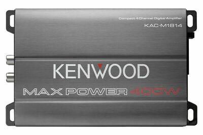 KENWOOD KAC-M1814 4-CHANNEL 400W MINI CAR MARINE BOAT MOTORCYCLE AMPLIFIER NEW