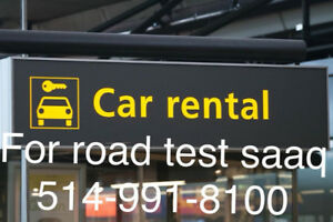 Rent a car for your road test 20$