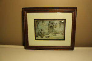 Vintage and Rare 3D Anton Pieck Painting