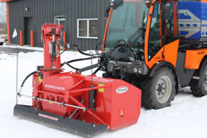 Holder Tractors Snow Removal System, snowblower and brine tank.