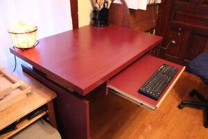 Crank up computer desk and stool. Belleville Belleville Area image 2