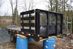 8x12 Flat Bed with side rails and 5th wheel