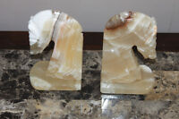 Horse Head Book Ends Marble Stone Moving Table Chairs Lamp Light