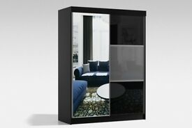 QUICK DELIVERY*** NEW RUMBA GERMAN 2 DOOR SLIDING WARDROBE WITH FULLY MIRRORED