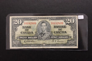 Canada 1937 $20 Bank Note
