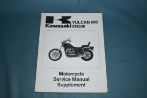 1990-91 Kawasaki Vulcan 500 Service Shop Manual Supplement