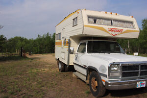 1993 Dodge One Ton Dually Truck with 11' Camper