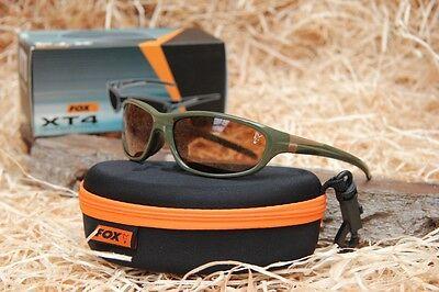 Fox XT4 Sunglasses Polbrille - grüner Rahmen braune Gläser Polarisationsbrille