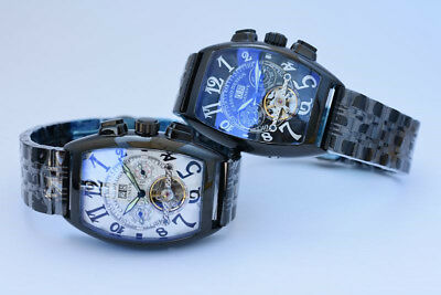 New Tourbillon Skeleton Automatic Mechanical Luxury Military Sport Mens Watches