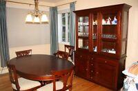 table cuisine et buffet/vaisselier chêne