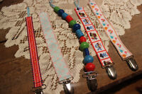 Baby pacifier clips