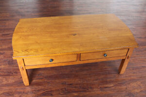 Broyhill Wood Coffee Table / Kneeling Desk With Large Drawers Peterborough Peterborough Area image 2
