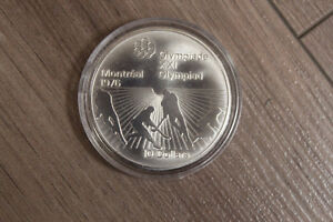Canadian Montreal Olympic Silver coin Series VI 1976 $10 Hockey