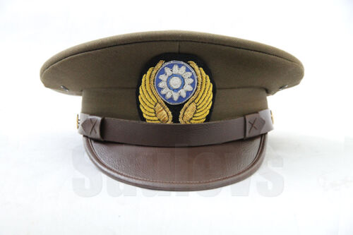 WWII China air force officer dress uniform visor hat