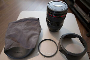 Canon 24-105mm f4 L IS USM Lens with UV Filter