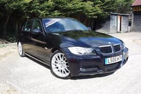 BMW 3 SERIES 320D EDITION M SPORT, Black, Auto, Diesel, 2008