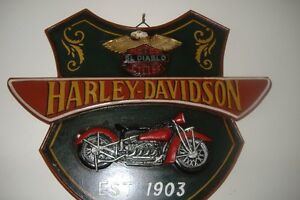 HARLEY WOOD PLAQUE