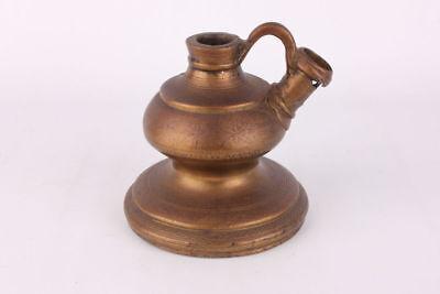 Antike orientalische Messing-Öllampe