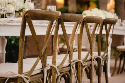 Wooden Cross Back BENTWOOD Chair HIRE $7 Wedding Events