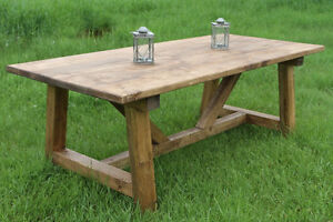 Rustic Country Harvest / Trestle tables – Custom made for you!