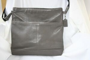 Coach Leather Grey/Granite Cross body Bag