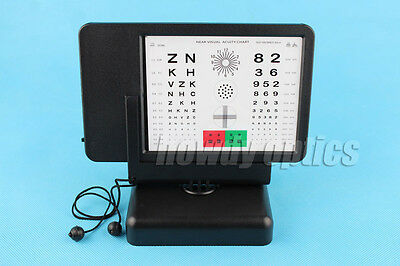 Letter Number Red Green Amsler Grid Led Visual Acuity Near Vision Chart Tester