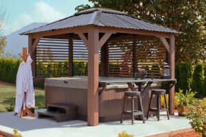 Visscher Gazebo. Wood & Metal Constructed. Made in Canada!