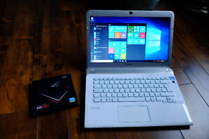 Sony VAIO Intel i5 Laptop (mint) // white with backlit keyboard