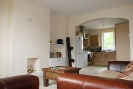 A spacious double bedroom for rent in a newly refurbished flat.