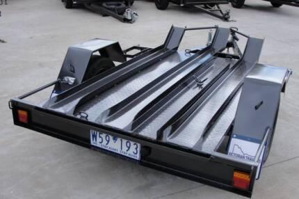 6x4 Motor Bike Trailer - Checker Plate Floor - 3 Bike Carrier