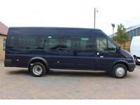 2012 FORD TRANSIT 430 TDCI 135 MEDIUM ROOF 17 SEAT BUS MINIBUS DIESEL
