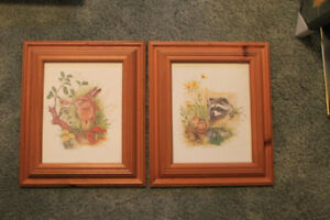 Matching Framed Animal Pictures for Young Child's Bedroom
