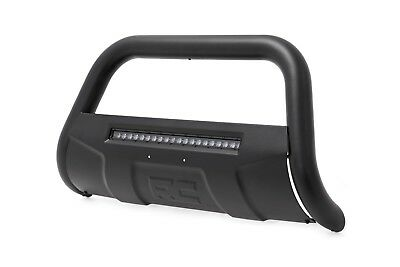 "Rough Country Black Bull Bar w/Integrated 20"" LED Bar 2011-2014 GM 2500HD"