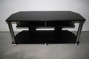 Ebony Flat Screen T.V. Stand