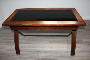 two cherry wood and glass desk Cambridge Kitchener Area image 4