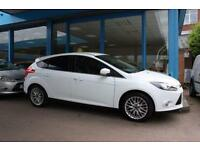 2014 14 FORD FOCUS 1.6 ZETEC TDCI 5DOOR 113 BHP DIESEL, WHITE