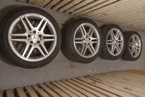 4×Mercedes-Benz AMG Wheels & Tires/Roues et pneus
