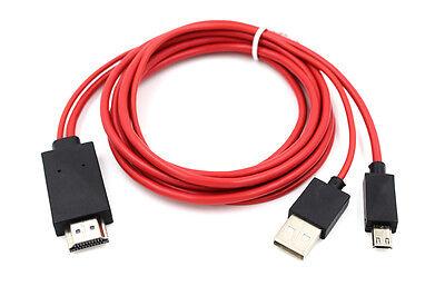 2m MHL auf HDMI Adapter TV Kabel für Samsung Galaxy Tab S2 9.7 SM-T810 SM-T815 (Samsung Galaxy Tab 7 Hdmi-adapter)