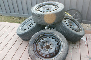 P205 55R16 rims 5 Volkswagon steel rims with tires