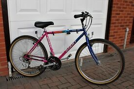 Gents mountain bike and ladies hybrid bike good condition