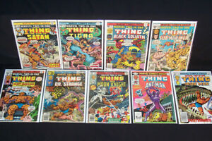 1976 Marvel Two-In-One #14,19,24,28,37,49,52,87,97 Comic Lot
