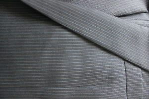 Mens Grey Pin Stripe Suit Kitchener / Waterloo Kitchener Area image 2