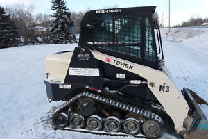 Terex loader with bucket and heated cab