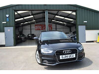 2014 AUDI A4 S LINE 2.0 TDI CVT AUTOMATIC BLACK DIESEL MAIN DEALER WARRANTY
