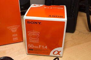 Sony 50mm F1.4 Prime A-Mount lens Kitchener / Waterloo Kitchener Area image 2