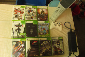 XBOX 360 + 12 GAMES INCLUDED. PLEASE CALL 514-996-9207