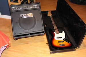Bass Fender Jazz #014-6200-532 avec Ampli Rumble